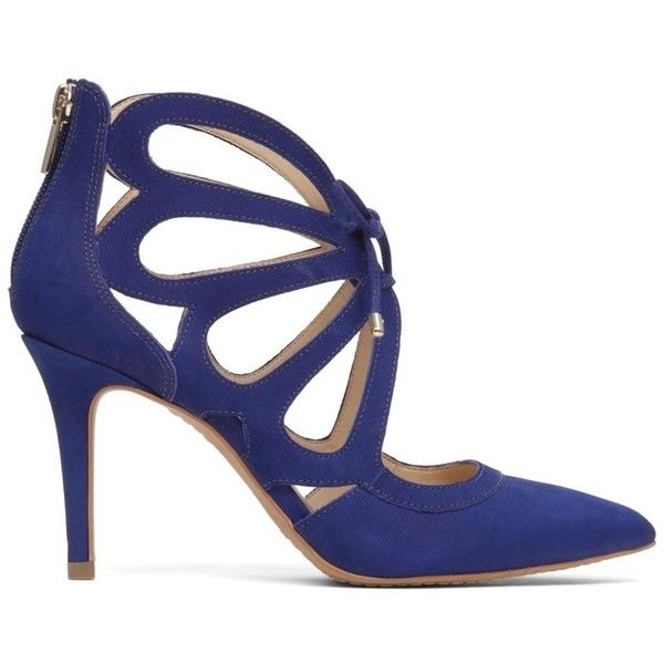 Vince Camuto Womens Ballana Leather Pointed Toe Casual Strappy Sandals (655 EGP) ❤ liked on Polyvore featuring shoes, sandals, blue, blue flat sandals, summer wedge sandals, blue heeled sandals, heeled sandals and flat platform sandals