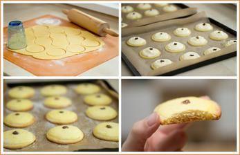 Linecké koláčky s tvarohem (mám jedno opomenutí v receptu - do tvarohové náplně přijdou ještě 2 vajíčka - kdo budete chtít recept zkusit)