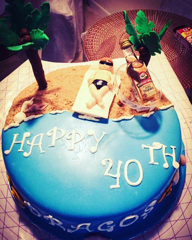 A Beach Birthday Cake