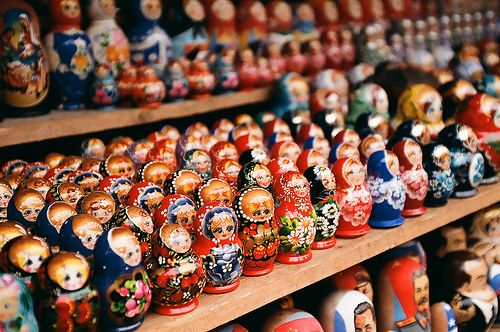 Nesting dolls - I would love to get some of these for our girl from the local Russian market. She would love them!