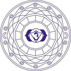 Mandala de Chakra Sahasrara  Dibujo para colorear