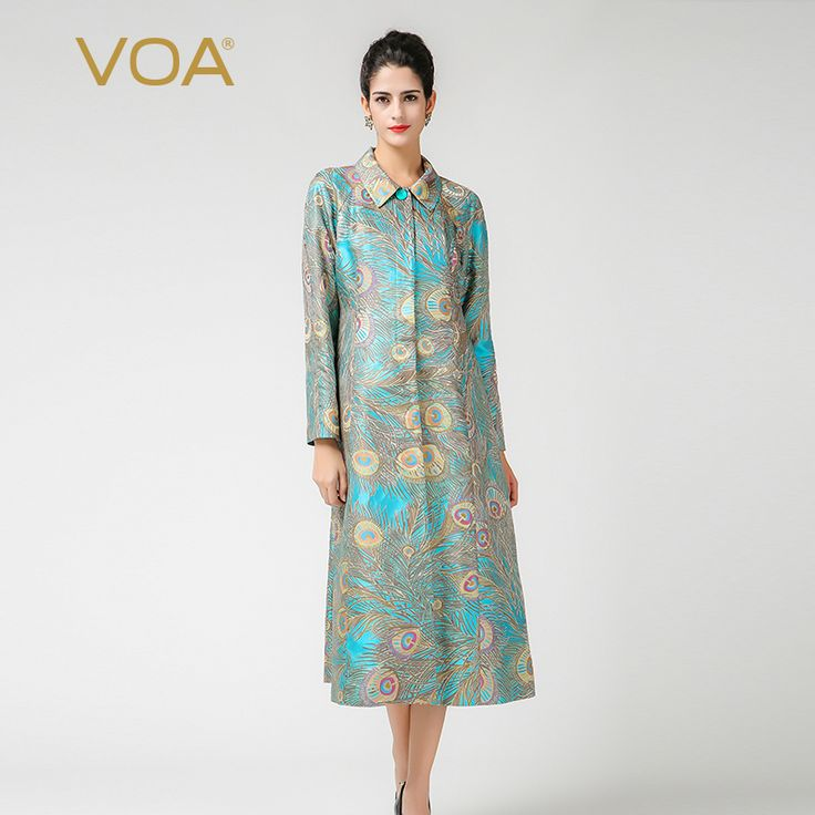Find More Trench Information about Peter Pan collar trench VOA gold peacock printing windbreaker for women F7350,High Quality windbreaker suppliers,China windbreaker umbrella Suppliers, Cheap windbreaker girls from VOA Flagship Shop on Aliexpress.com