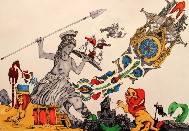 2014 -- Tom Crawford -- yr. 10 -- mixed media drawing
