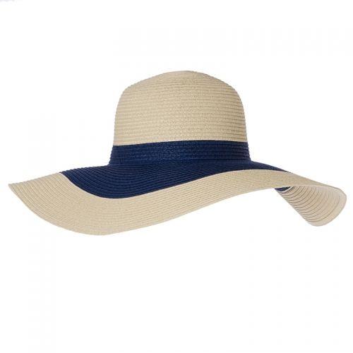 Large Contrast Stripe Floppy Hat