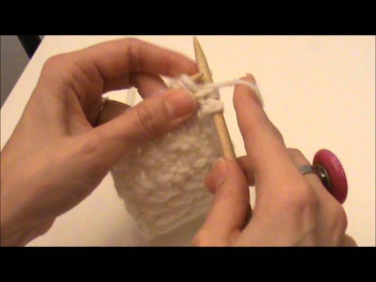Vidéo : le point d'étoile au tricot