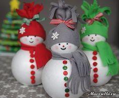 Como hacer muñecos de nieve con esferas unicel03