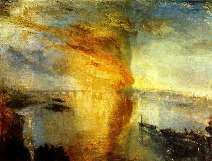 JMW Turner, L'incendio della Camera dei Lord e dei Comuni del 16 ottobre, 1834 (1835)