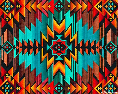Native American geometric Designs | ... : Southwestern Sunset - Native American Geometrics - Turquoise