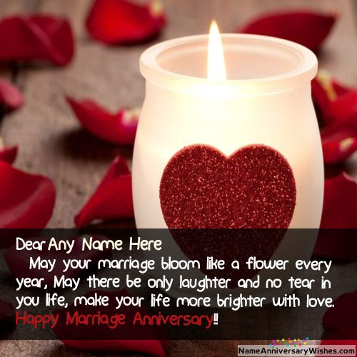 Marriage Anniversary Wishes For Parents With Name