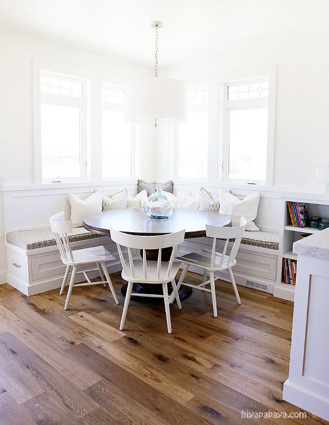 The Paint Color Is Benjamin Moore White Dove Satin Finish Millhaven Homes Caitlin Round Dining Room