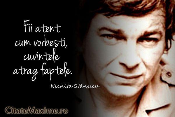 """""""Fii atent cum vorbesti, cuvintele atrag faptele."""" #CitatImagine de Nichita Stanescu Iti place acest #citat? ♥Distribuie♥ mai departe catre prietenii tai. #CitateImagini: #Fapte #Cuvinte #NichitaStanescu #romania #quotes Vezi mai multe #citate pe http://citatemaxime.ro/"""