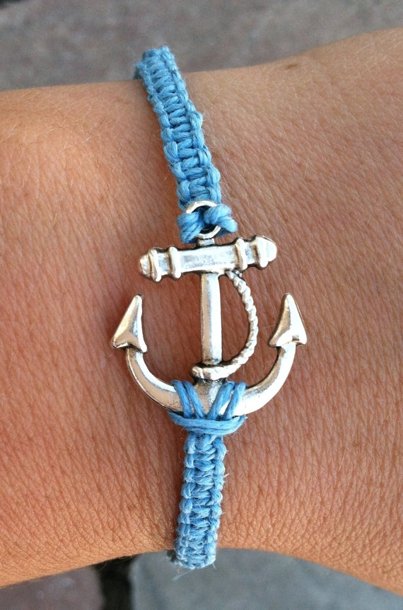LIGHT BLUE Anchor Bracelet by krystleskrafts on Etsy, $4.50 ALL ANCHOR BRACELETS ARE NOW CHEAPER! CHECK THEM OUT!
