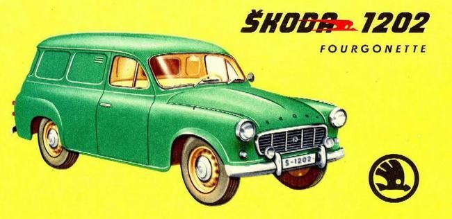 Skoda 1202 Fourgonette - depliant