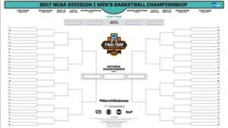 2017 NCAA March Madness tournament bracket