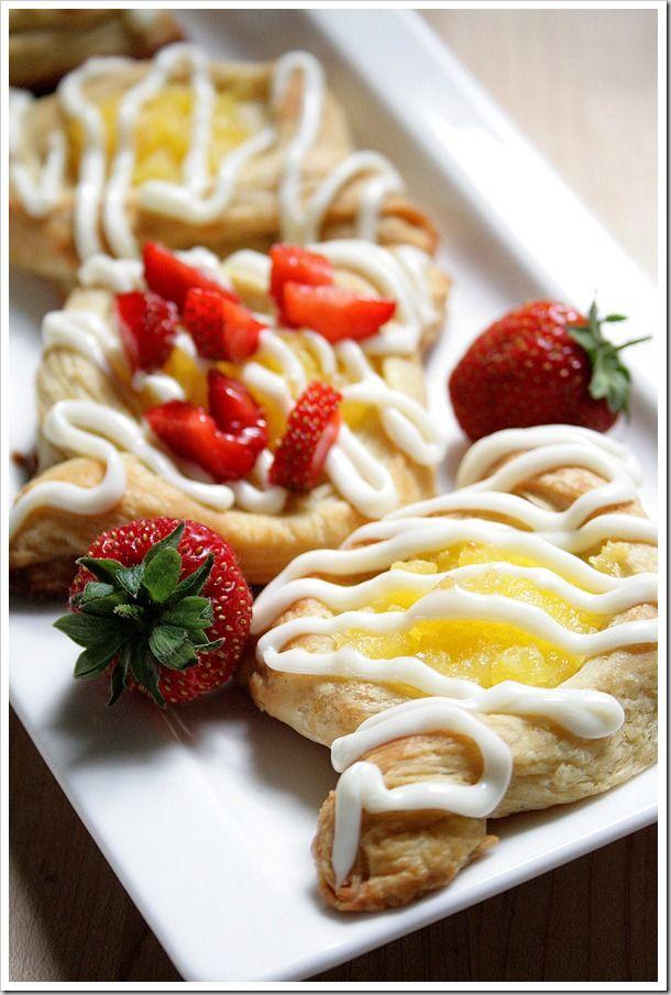 Lemon & Berry Filled Danish Pastries via Doughmesstic- Breaks down the ...