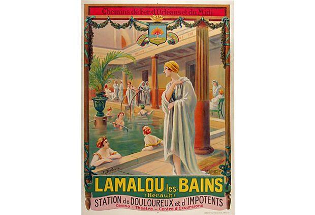Lamalou les Bains French Poster on OneKingsLane.com