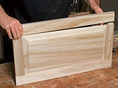 Making raised-panel doors on a tablesaw. A veteran cabinetmaker shows you how to build a Shaker-style cabinet door in six easy steps. By Rex Alexander