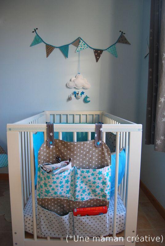 sac pour accrocher au lit Malin ! -une maman créative