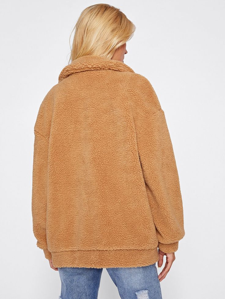 Shop Drop Shoulder Oversized Fleece Jacket online. SheIn offers Drop Shoulder Oversized Fleece Jacket & more to fit your fashionable needs.
