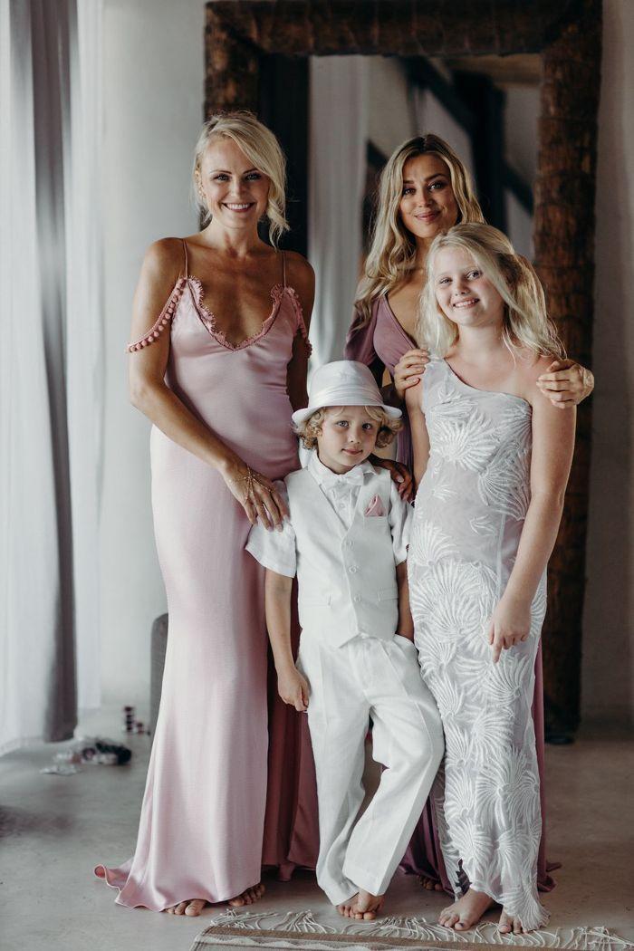 Malin Akerman Just Got Married In The Prettiest Pink Slip Dress