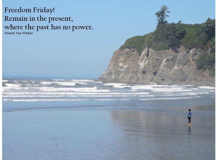 Mindful moments on the rugged shore of Ruby Beach, Washington. Olympic peninsula.