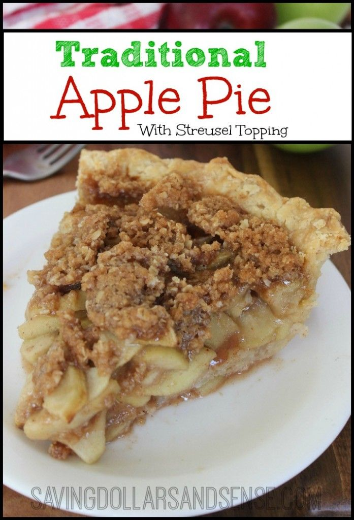This Traditional Dutch Apple Pie is calling my name tonight!