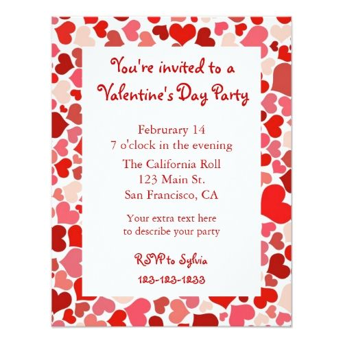275 best Valentineu0027s Day Party Invitations images on Pinterest - valentines day invitations