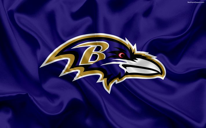 Download wallpapers Baltimore Ravens, logo, emblem, National Football League, NFL, USA, American football, Northern Division