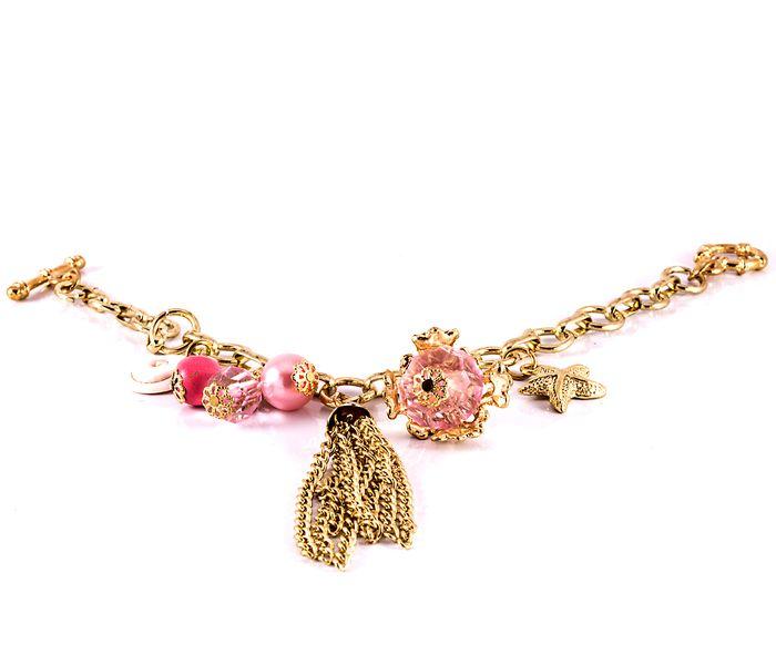 Bizsu Karkötők Sealla arany rózsaszín