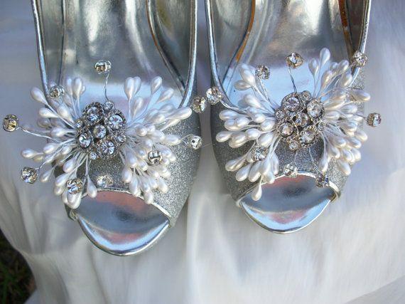 Wedding Bride Pearl Cluster Silver Brooch by BlissfulBashfulBride, $36.99