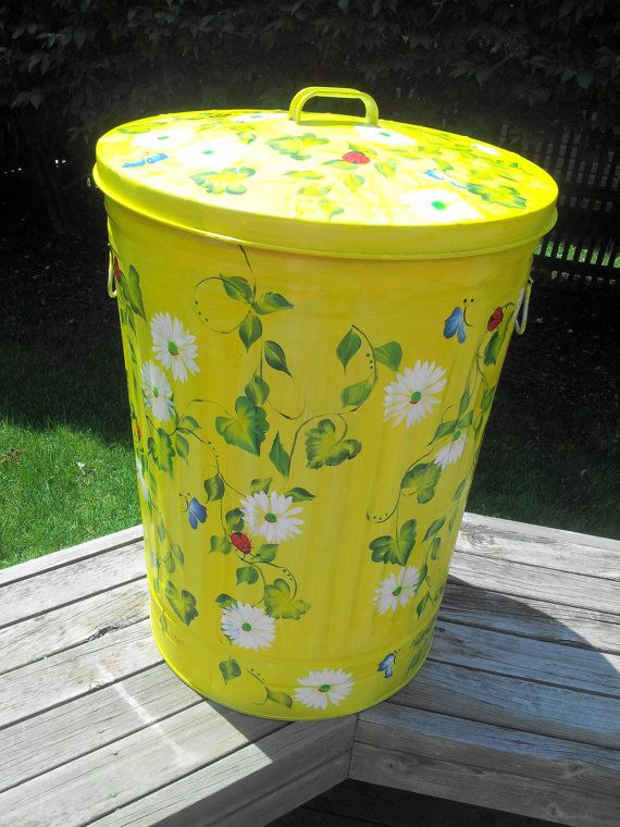 30 Gallon Decorative Hand Painted  by krystasinthepointe on Etsy, $159.00