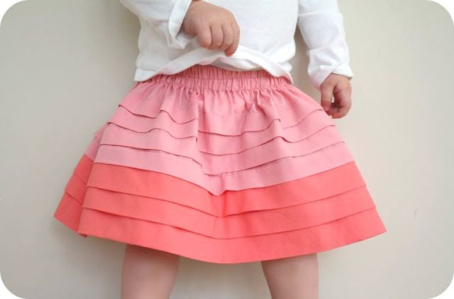 pleated ombre skirt tutorial