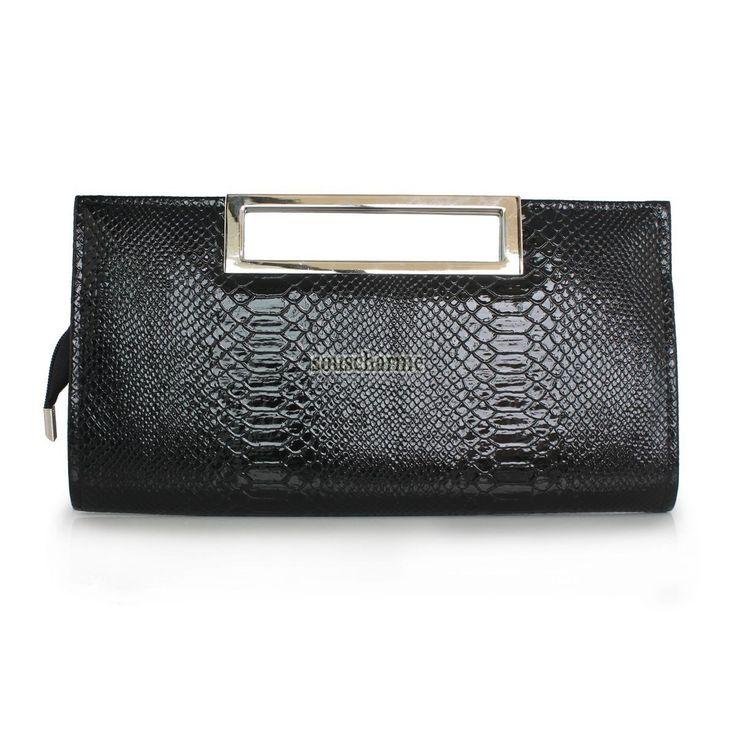 Pochette soir e noire sac pochette femme pas cher en for Pochette pour couteaux de cuisine