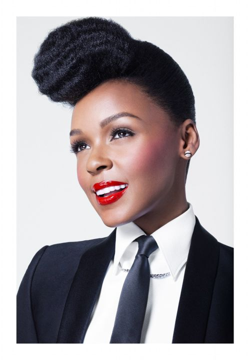 Janelle Monáe Named The New Face of CoverGirl: Style, Janel Moná, Makeup, Red Lips, Natural Hair, Covers Girls, Covergirl, Beautiful People, Janel Mona