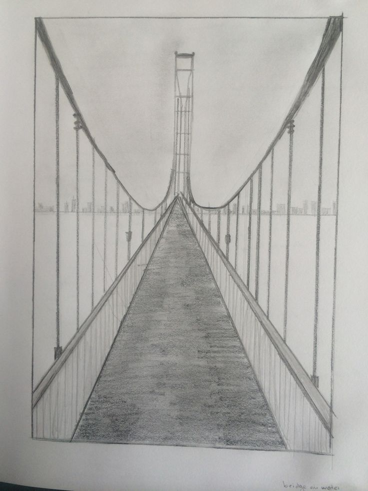 one point perspective bridge, love this idea for Portland Bridges.....Beautiful display ideas...