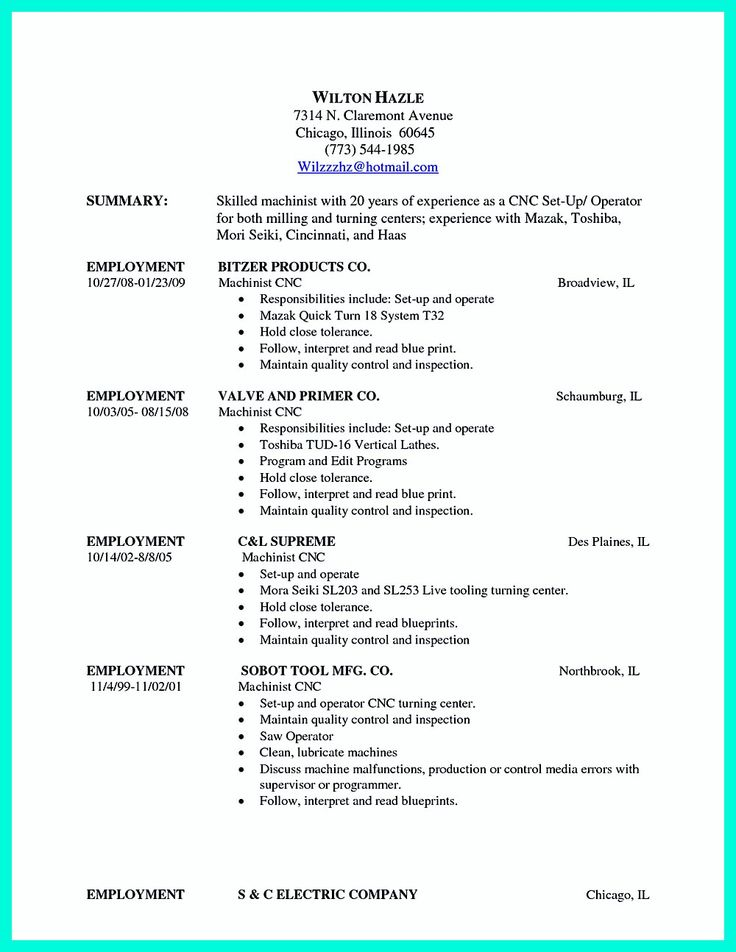 every company good worker qualifications it machinist in resume template pdf australia functional google docs sample word