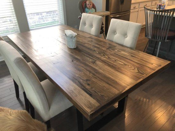 Dark Reclaimed Dining Table Kitchen Table Dining Cafe Table