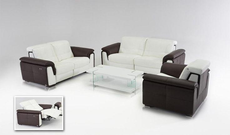 VIG Divani Casa E9000 - Modern Leather Sofa Set with Electrical Recliners