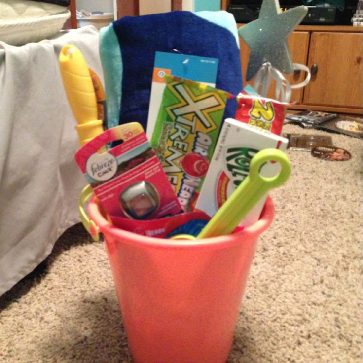 DIY Birthday Present Cute And Not Expensive- Protein Bars, Car Febreeze, $10 Gift Card, Her