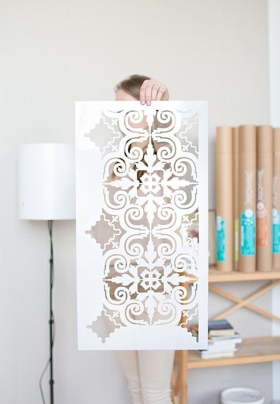 Porto Tile stencil  Moroccan Table Stencil pattern  Moorish