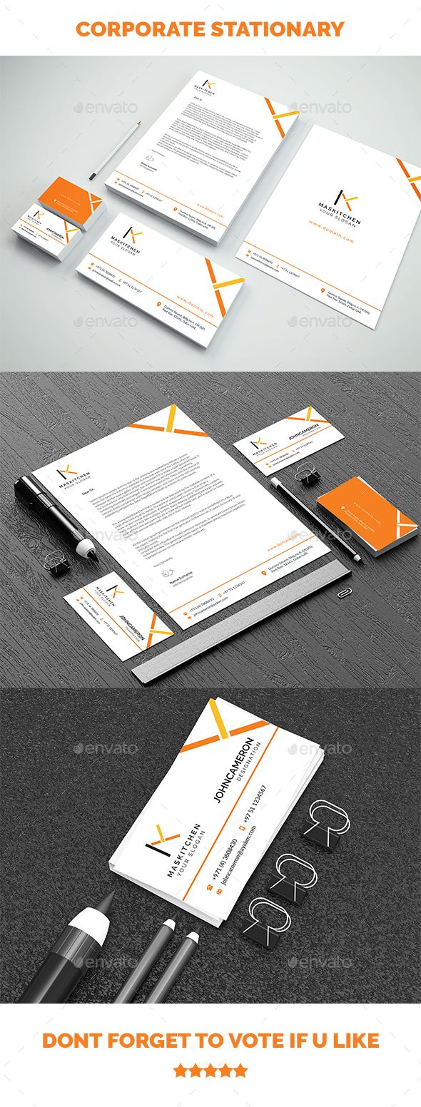 Corporate Stationary - #Stationery Print Templates Download here:  https://graphicriver.net/item/corporate-stationary/20365805?ref=alena994