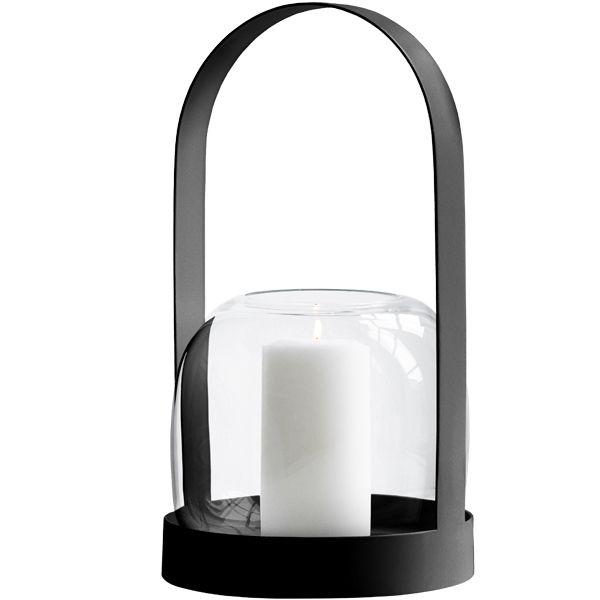 Carrie lantern, black, by Menu.