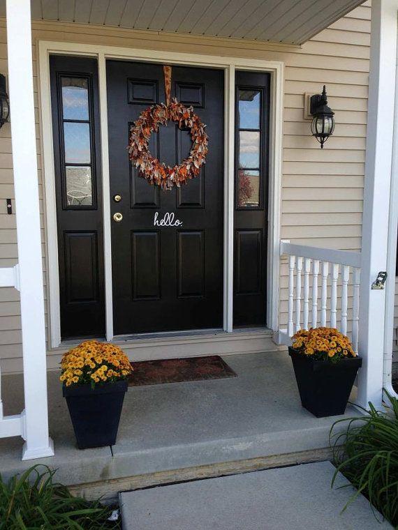 Best Front Door Decals Images On Pinterest Front Doors - Custom exterior vinyl decals