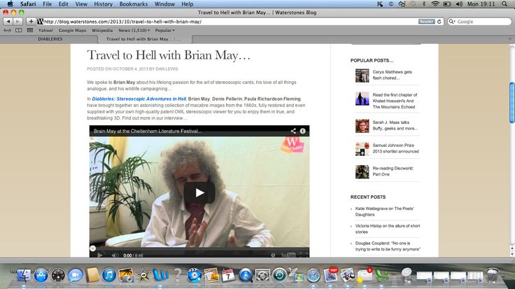 Waterstones interview Brian at Cheltenham Literature Festival - click image to watch the full item.