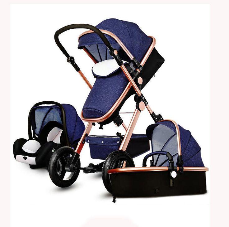 Luxury Baby Stroller 3 in 1 High view Pram foldable pushchair bassinet&Car Seat | Baby, Strollers & Accessories, Strollers | eBay!