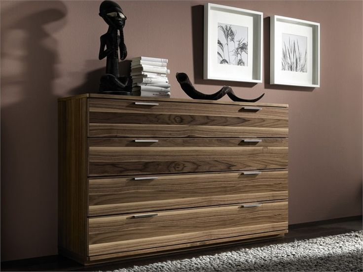 Walnut chest of drawers La Vela II Collection by Hülsta-Werke Hüls