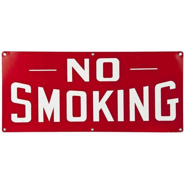 Vintage Red Metal Sign: No Smoking (26.435 HUF) ❤ liked on Polyvore featuring home, home decor, wall art, novelty signs, signs, vintage metal signs, vintage metal wall art, vintage home decor, vintage wall art and red home accessories
