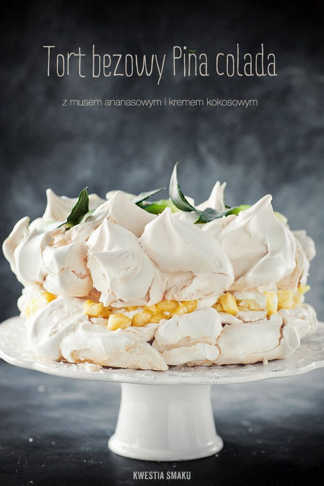 Pina Colada Meringue Cake. Just think of the different things you can do with the basic meringue. Try using lemon ice box pie filling instead of coconut cream.