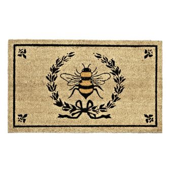BEE IN CREST DOORMAT -