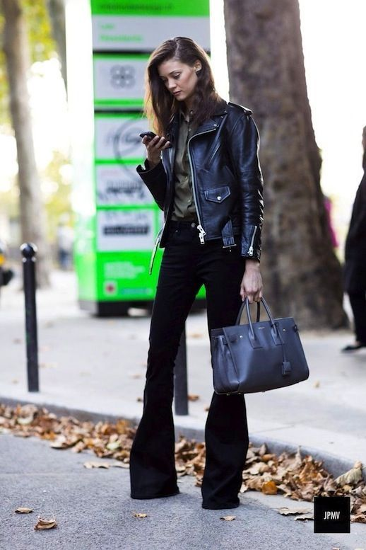 leather and flares